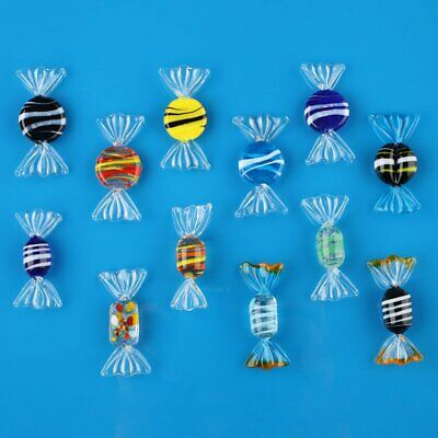 US Ship 12pcs Murano Glass Sweets Candy For Wedding Party Decorations Gift