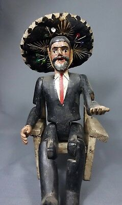 Vintage Handcarved San Simon/Maximon Altar Piece from Guatemala