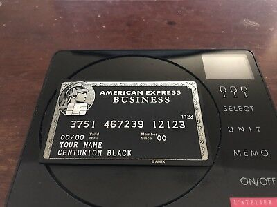 Customize like american express amex black business centurion card customize like american express amex black business centurion card metal gift colourmoves Images