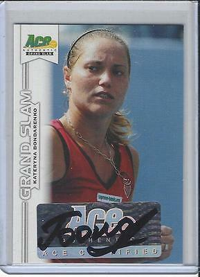 2013 Ace Authentic Grand Slam Tennis Auto Autogramm Kateryna Bondarenko