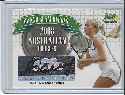 2013 Ace Authentic Grand Slam Tennis Heroes Auto Autogramm Alona Bondarenko