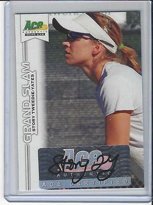 2013 Ace Authentic Grand Slam Tennis Auto Autogramm Story Tweedie-Yates