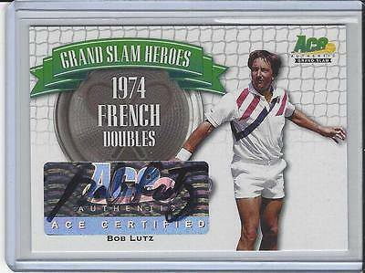 2013 Ace Authentic Grand Slam Tennis Heroes Auto Autogramm Autograph Bob Lutz