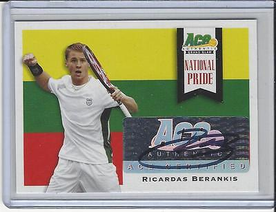 2013 Ace Authentic Grand Slam Tennis National Pride Auto Ricardas Berankis