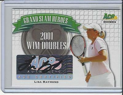 2013 Ace Authentic Grand Slam Tennis Heroes Auto Autogramm Lisa Raymond