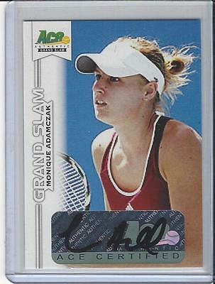 2013 Ace Authentic Grand Slam Tennis Auto Autogramm Autograph Monique Adamczak