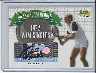 2013 Ace Authentic Grand Slam Tennis Heroes Auto Autogramm Autograph Stan Smith