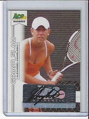 2013 Ace Authentic Grand Slam Tennis Auto Autogramm Alexandra Anghelescu