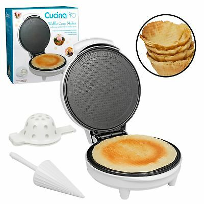 Waffle Cone and Bowl Maker- Homemade Ice Cream Wafflecones in Minutes - Includes