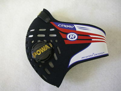 Respro Cinqro Hepa Dacc Pollutant Sports Mask Black Xl, Extra Large Synchro Mask