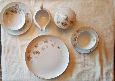 52 Piece Service for 8 Norcrest China Japan Autumn Fantasy Rare Opportunity NIB