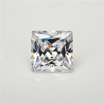 50pcs 1.5x1.5~15x15mm Square Shape White 5A loose cz stone cubic zirconia gems