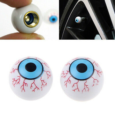 4Pcs Creative Eye Ball Tyre Tire Air Valve Stem Dust Caps For Car Bike Truck