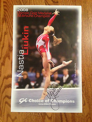 "Nastia Liukin Signed Autographed GK Poster 11""x17'"
