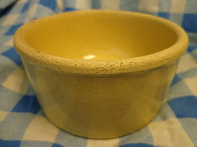 Vntg Yellow Ware Butter Crock Robinson Ransbottom Roseville Ohio Salt too SALE!