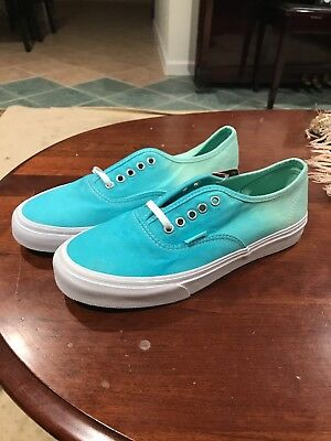 eb453eeb777c78 VANS AUTHENTIC SLIM Ombre Cloisonne Icy Green Blue Womens 7.5 Mens 6 ...