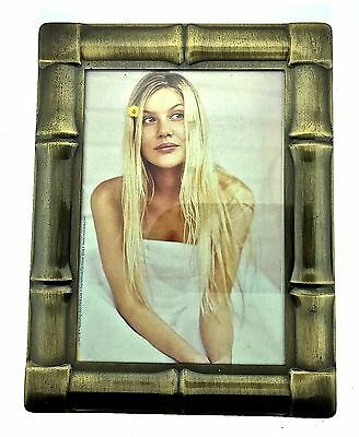 Bronze Bamboo Picture Frame Decorative Antique Classic Heirloom Collectible