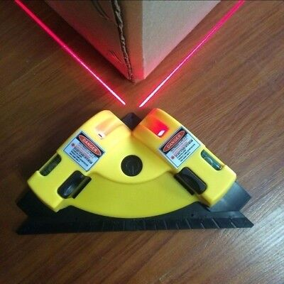 Right Angle 90 Degree Square Laser Level Vertical Horizontal Alignment Tools