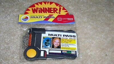 Loot Crate Exclusive Fifth Element Multi-Pass Id Holder