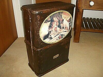 Quirky Bathroom Cabinet Cupboard Unit From Wood Bound Steamer Trunk Pears Soap