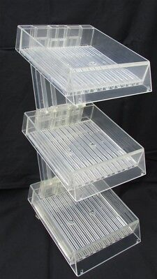 """3-Tier Acrylic Stand Clear Display 6x6"""" Square Pencil"""
