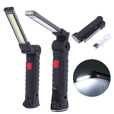 Rechargeable Flexible Magnetic COB LED Torch Inspection Lamp Cordless Work Light