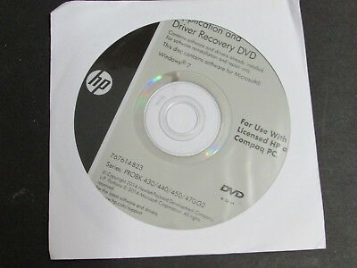 HP APPLICATION AND Driver Recovery DVD Windows 7 P/N: 767614-B23