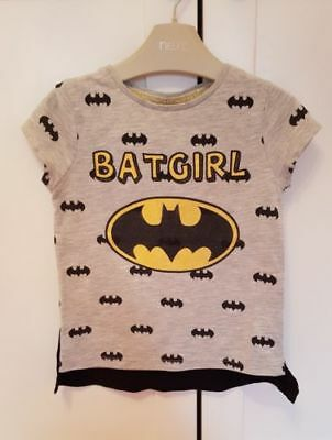 Ex F&F Girls Batgirl T-shirt with Cape age 18 months