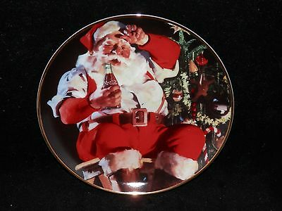"Franklin Mint Coca Cola & Santa ""A Refreshing Pause""  Plate Box - Free Shipping"