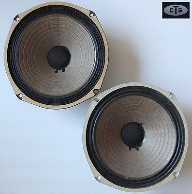 """pair of vintage CTS 10"""" Alnico magnet mid/bass woofers 4Ω, 1969-1970—great cond."""