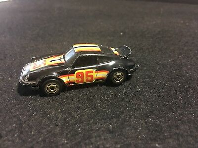 Vintage 1974 Hot Wheels Porsche 911 Black 1/64 Die Cast Minor Nicks.