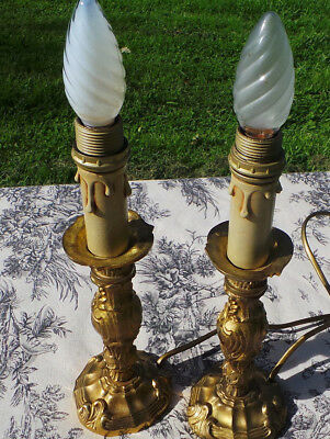 French Table Lamps Lights Superb Vintage French Bronze Electric Lamps