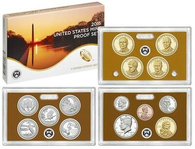 2015 S COMPLETE PROOF SET * ALL 14 COINS * US Mint SEALED BOX w COA