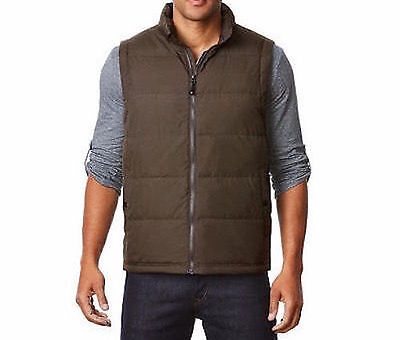 NWT Weatherproof 32 Degrees Heat Down Filled Packable Mens Vest Size M Brown