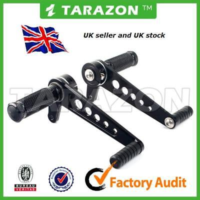 Cafe racer. Tarazon universal rearset footrests, anodised BLACK silver also