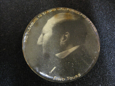 Vintage Risque California Fig Bitters Mirror Button