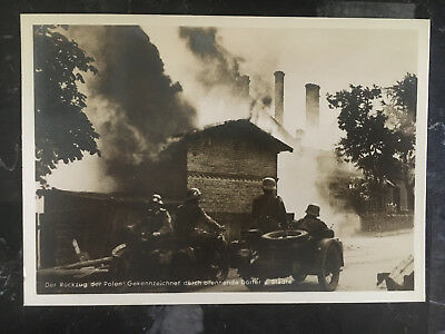 1940 Krakow Poland Germany GG Soldiers Motorcycle RPPC Postcard cover to Hamburg