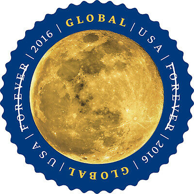 US Global Forever Air Mail Stamp - international Single Stamp - Moon