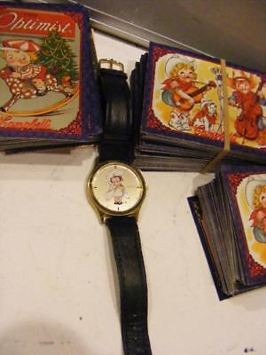 CAMPBELL KIDS SOUP WATCH Large face & tons of Trading Cards Lot Vintage
