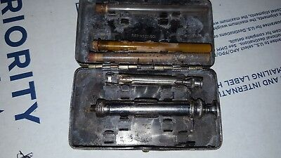 Antique  Surgical Oct 22 1901 Germany Silver Hypodermic Syringe & Tubes