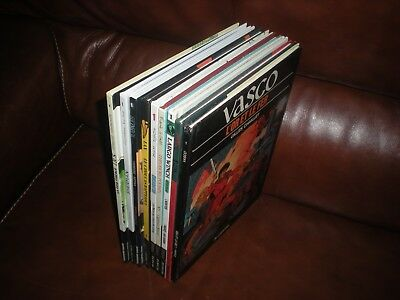 Lot 9 Albums Dupuis Lombard - Vasco Largo Winch Irs Kogaratsu Poussin Sherman