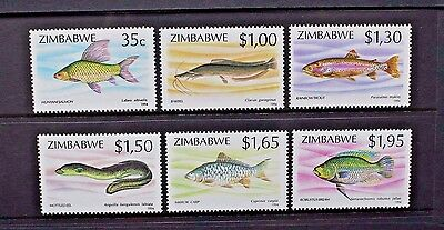 ZIMBABWE 1994 Fish Fishes (2nd series). Set of 6. Mint Never Hinged. SG864/869.