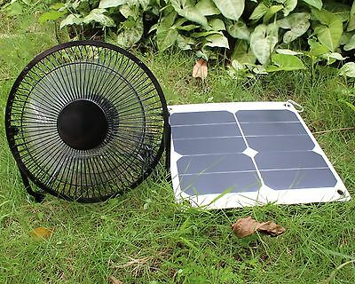 Solar Fan 10W SunPower Greenhouse Pet Chicken House Treehouse RV Ventilator