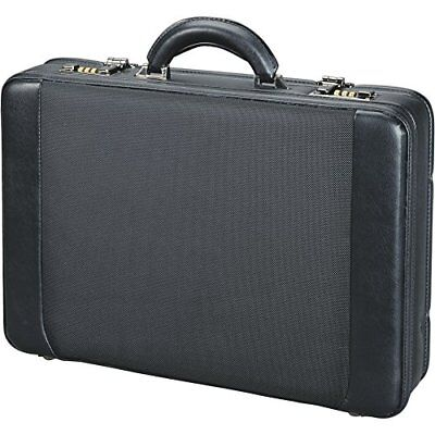 Alassio Attaché-Koffer Aktentasche Businessbag MODICA Lederimitat/Nylon schwarz