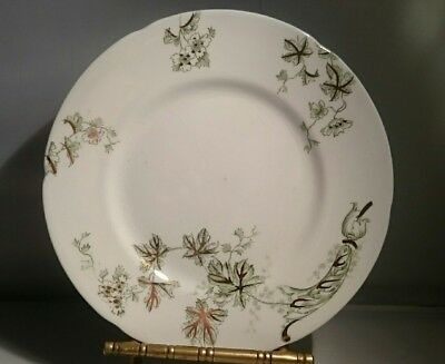 """(5) J & G Meakin CHICAGO Green & Gold Plates Hanley England Salad Plate 6.75"""""""