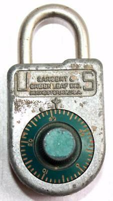 Vintage Sargent & Greenleaf Inc.Rochester NY Combination Padlock 8088 W/ Combo