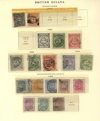 British  Guiana    nice page lot          KL1217