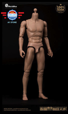 *US STOCK* WorldBox Strong Durable 1/6 Narrow Shoulder Male Figure Body AT011