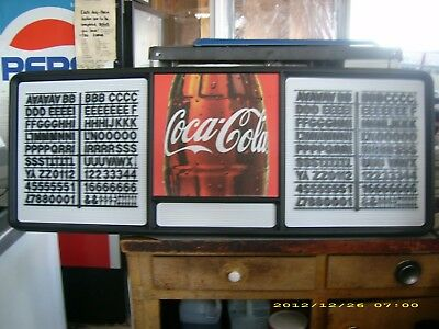 New 4ft Coca-Cola Menu Board Sign w/letters & numbers sets!