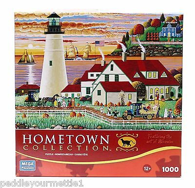 Heronim HomeTown Collection Trick or Treat 1000 Piece Jigsaw Puzzle NEW not SEAL